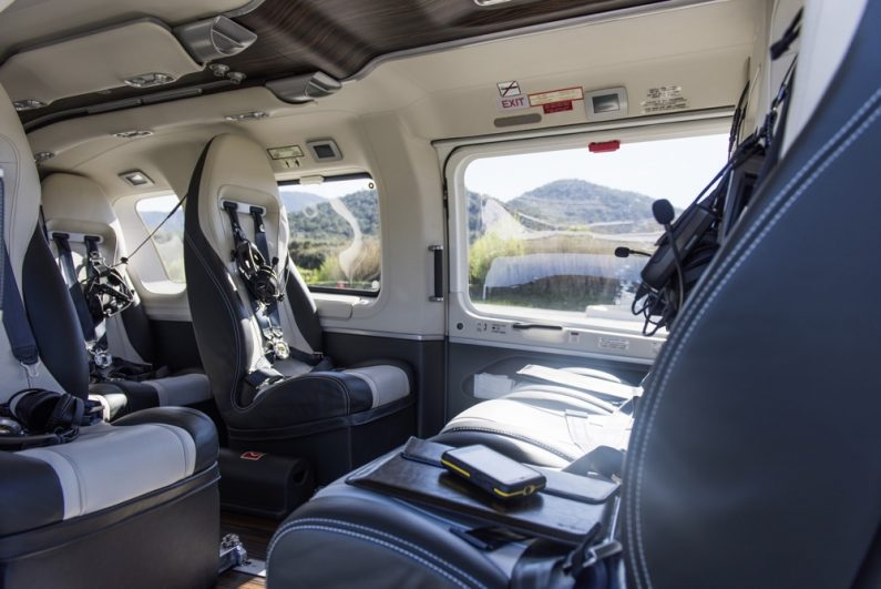 """Luxury helicopter """"H145 by Mercedes-Benz Style"""" from Airbus Helicopters."""
