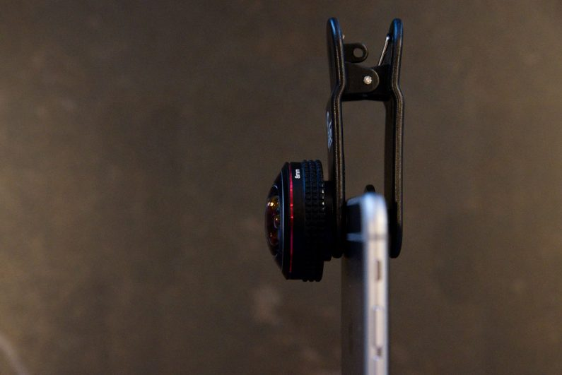 Pixter essai objectifs iPhone fisheye