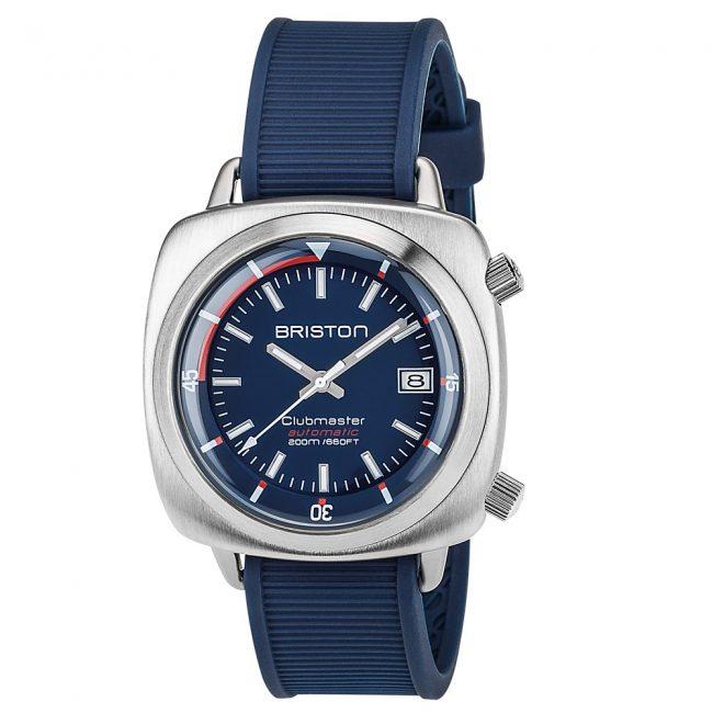clubmaster-diver-acier-brosse-hms-automatique-cadran-bleu-marine