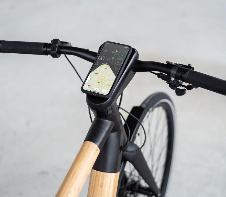 Cyclik relief le vélo électrique connecté en bambou made in France