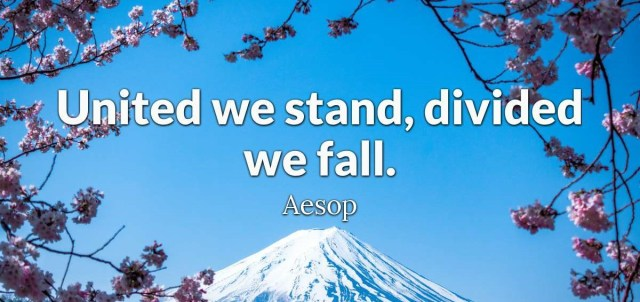 aesop-united we stand divided we fall