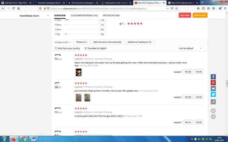 Weight loss pills-garcinia cambogia customer reviews screenshot