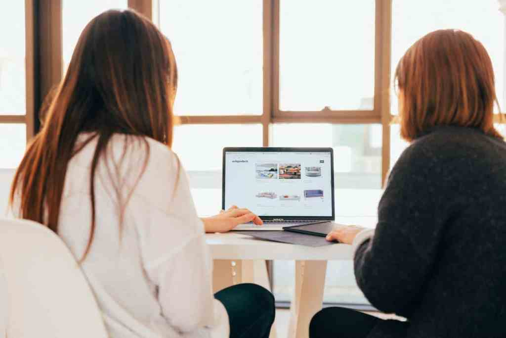 Two ladies working on a digital marketing assignment online - Digital Content Marketing Services