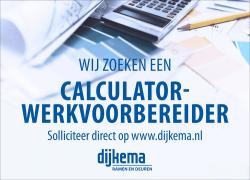Wij zoeken een calculator – werkvoorbereider