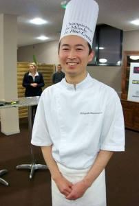 Un Japonais de Bourgogne au sommet du pâté en croûte