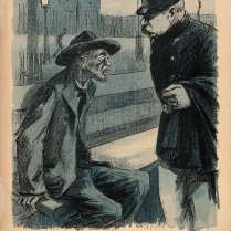1280px-A_tramp_on_a_bench_tells_a_policeman_that_all_the_hospitals_Wellcome_V0011838