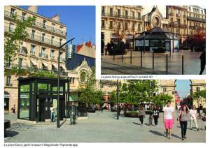 Dijon, la place Darcy en vision panoramique