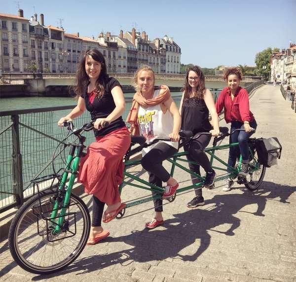 Départ Tandem Tour à Bayonne