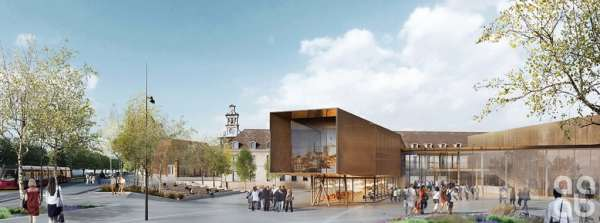 Vue d'artiste de la futur cité de la gastronomie de Dijon - photo DR