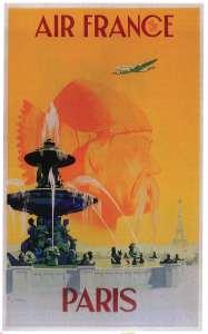 Campagne d'Air France « Paris a 2 000 ans » par Vincent Guerra (1950).