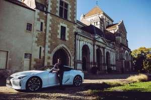 William Frachot et le Lexus LC500H, stars sur un plateau