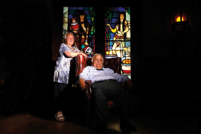 René Fortin et Cathy à Anost