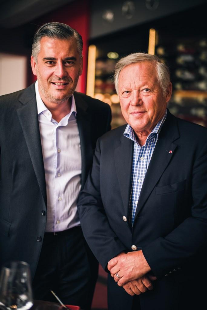 Jean-Paul Madaleno et Georges Blanc, le jour de l'ouverture du tout nouveau Pré aux Clercs.