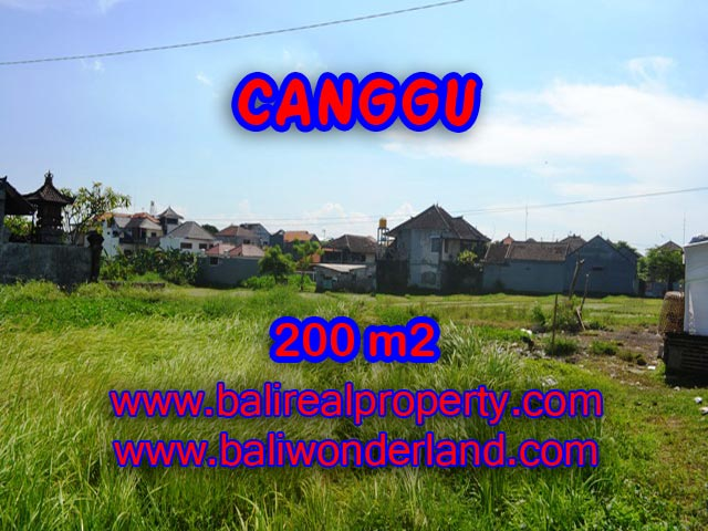 Tanah di Bali dijual 200 m2 di Canggu Brawa