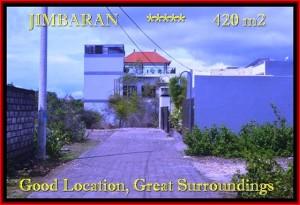 TANAH MURAH di JIMBARAN BALI 420 m2  Lingkungan villa dan Hotel