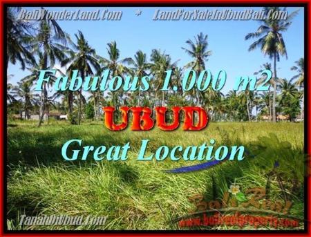 TANAH di UBUD BALI DIJUAL 1,000 m2 di Sentral Ubud