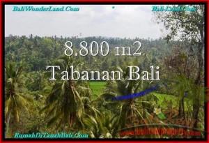 JUAL TANAH MURAH di TABANAN BALI 8,800 m2  View laut, Sawah dan Gunung