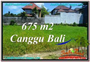 TANAH di CANGGU BALI DIJUAL 675 m2 Lingkungan villa & Hotel