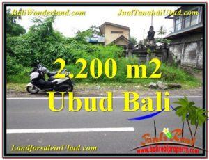 JUAL TANAH di UBUD BALI 2,200 m2 di Sentral Ubud