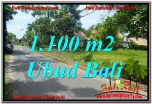 JUAL MURAH TANAH di UBUD BALI 1,100 m2  View Sawah, Sungai Kecil, Link. Villa