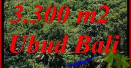 Tanah Dijual di Ubud Bali 3,300 m2 View sungai, lingkungan Villa, Restoran dan Hotel