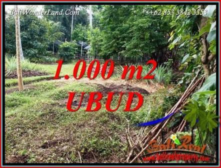 JUAL Tanah di Ubud Bali 1,000 m2  View kebun lingk. villa