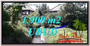 JUAL TANAH di UBUD 1,900 m2 di Ubud Gianyar