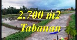 TANAH JUAL MURAH TABANAN 2,700 m2 VIEW SAWAH DAN LAUT