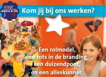 Vacature pedagogisch medewerker 27 uur zwangerschapsverlof Eindhoven