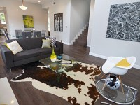 faux-cowhide-rug-Living-Room-Contemporary-with-area-rug ...