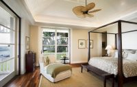 Ceiling Fan for Bedroom with Plantation Shutters for ...