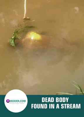 DEAD BODY FOUND IN A STREAM