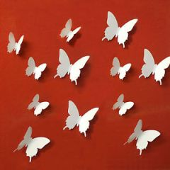 Butterfly Wall Decor - Curvy wings with down line Butterfly's for Home Wall Decoration