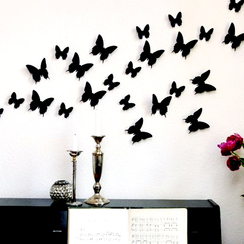 Butterfly Wall Decor   Curvy Wings With Down Line Butterflyu0027s For Home Wall  Decoration