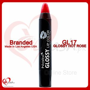 Beautiful Lipstick - Nabi Glossy Lip Color - GL17 Glossy Hot Rose