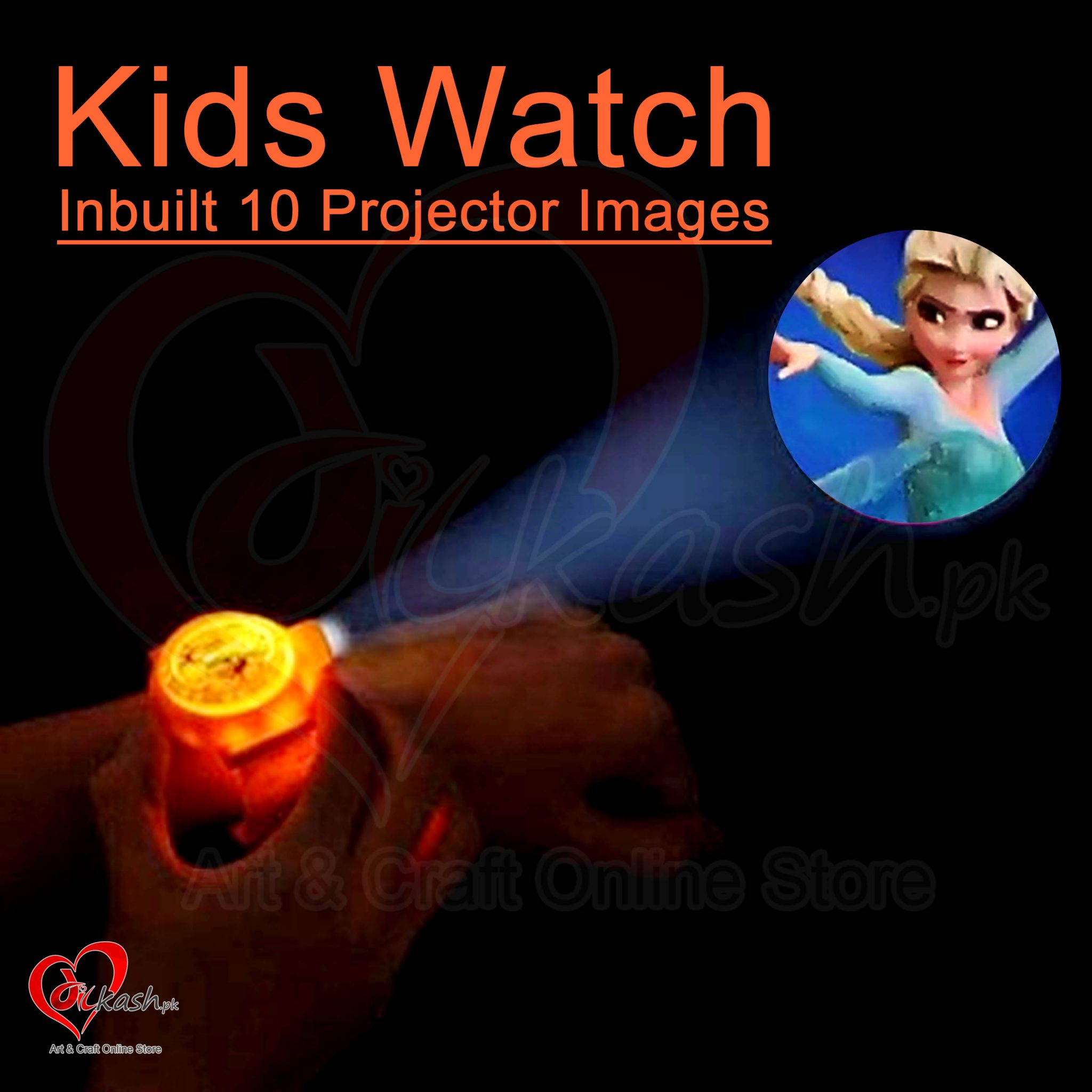 Kids Watches with Inbuilt 10 Projector Images of Frozen NO.ZL8510BX