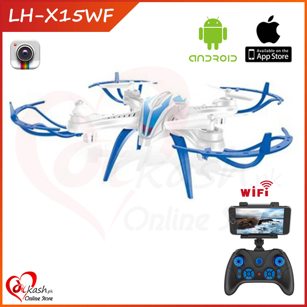 Drone Camera Quadcopter RC WIFI Live Video Android & Iphone Control LH-X15WF