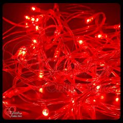 Fairy Lights Decoration LED Still - Christmas Lights - 25 Feet Long - Red