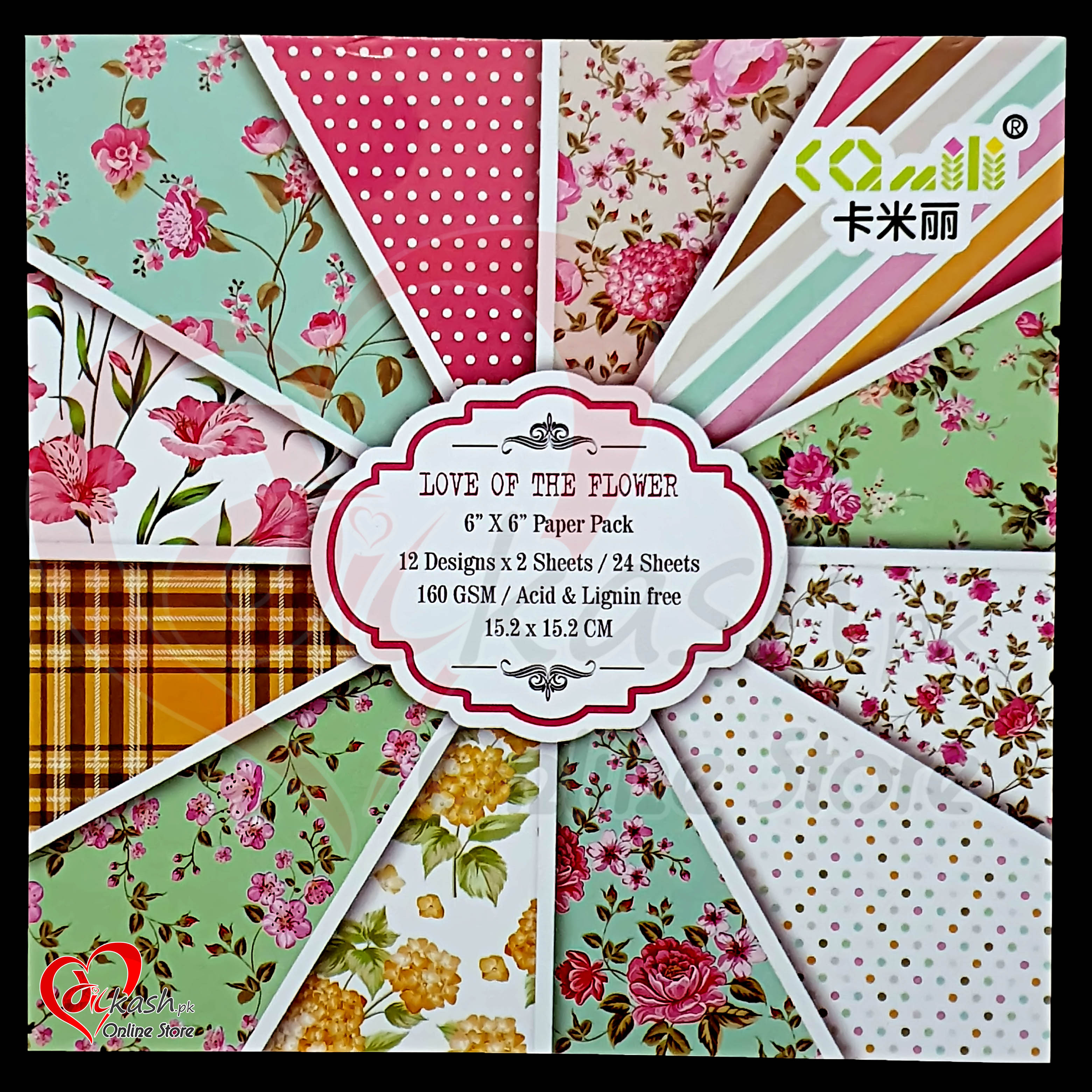 Scrapbook Paper Craft Pattern 6x6 Inches - Pattern Paper