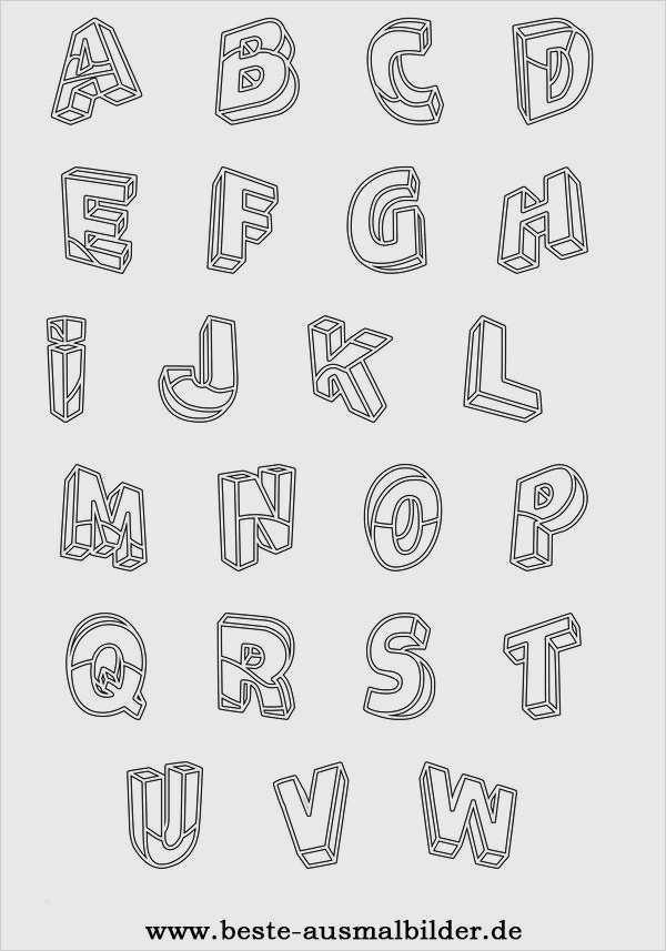 3d Vorlagen Zum Drucken Best Of Ausmalbilder Alphabet
