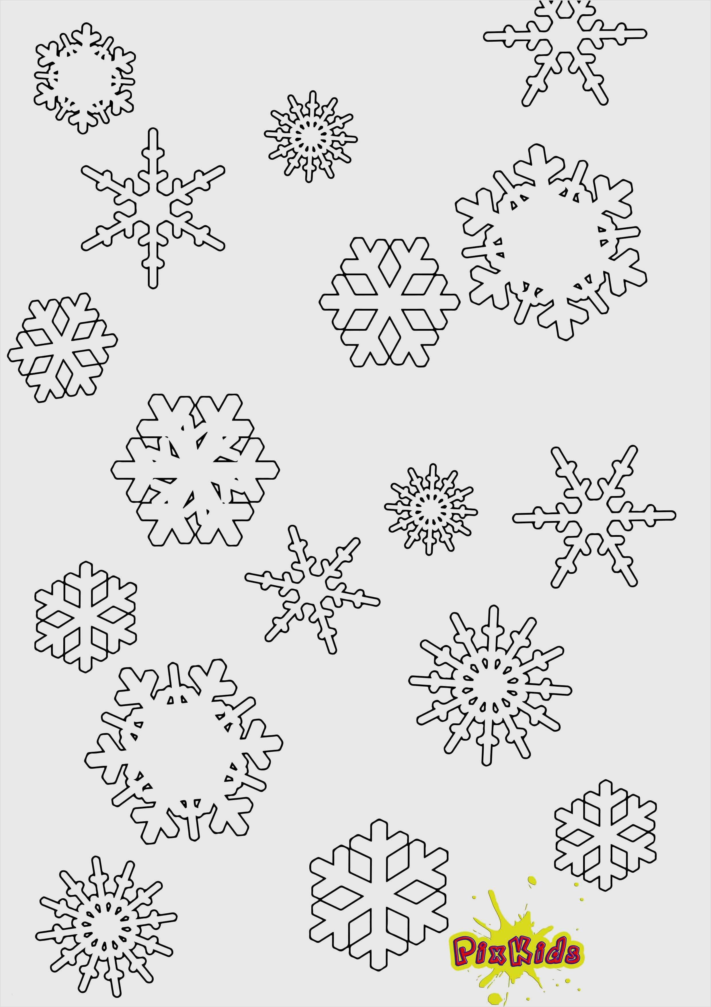 Schneeflocken Vorlage Ausdrucken Cool Ausmalbild