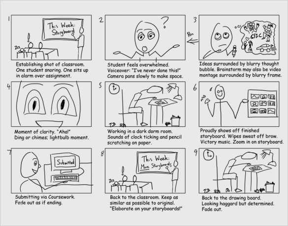 Storyboard Vorlage Word Beste Simple Storyboarding