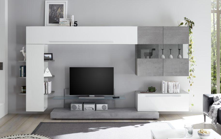 La parete attrezzata a103 tomasella starà alla perfezione in un living agevole e bello a vedersi: Pareti Attrezzate Moderne Arredamenti Di Lorenzo Napoli