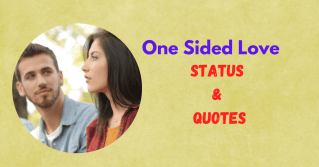 One Sided Love Status
