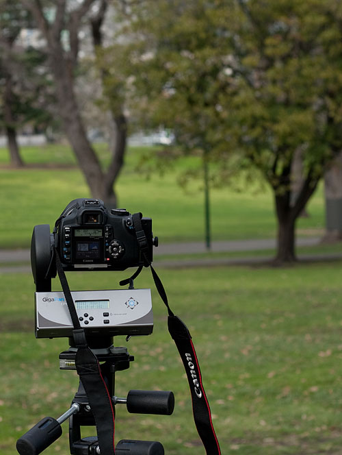 The GigaPan Epic with my 350D dSLR