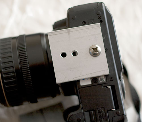 Adapter plate on my Canon 350D
