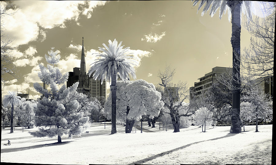 Infrared panorama with the Gigapan Epic