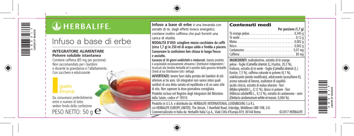 herbalife infuso alle erbe 50gr limone