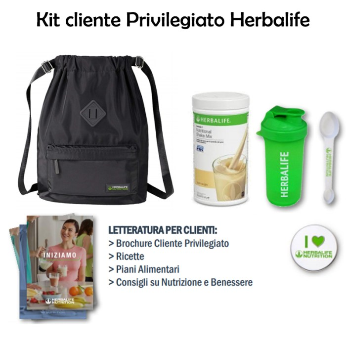 Kit cliente privilegiato Herbalife