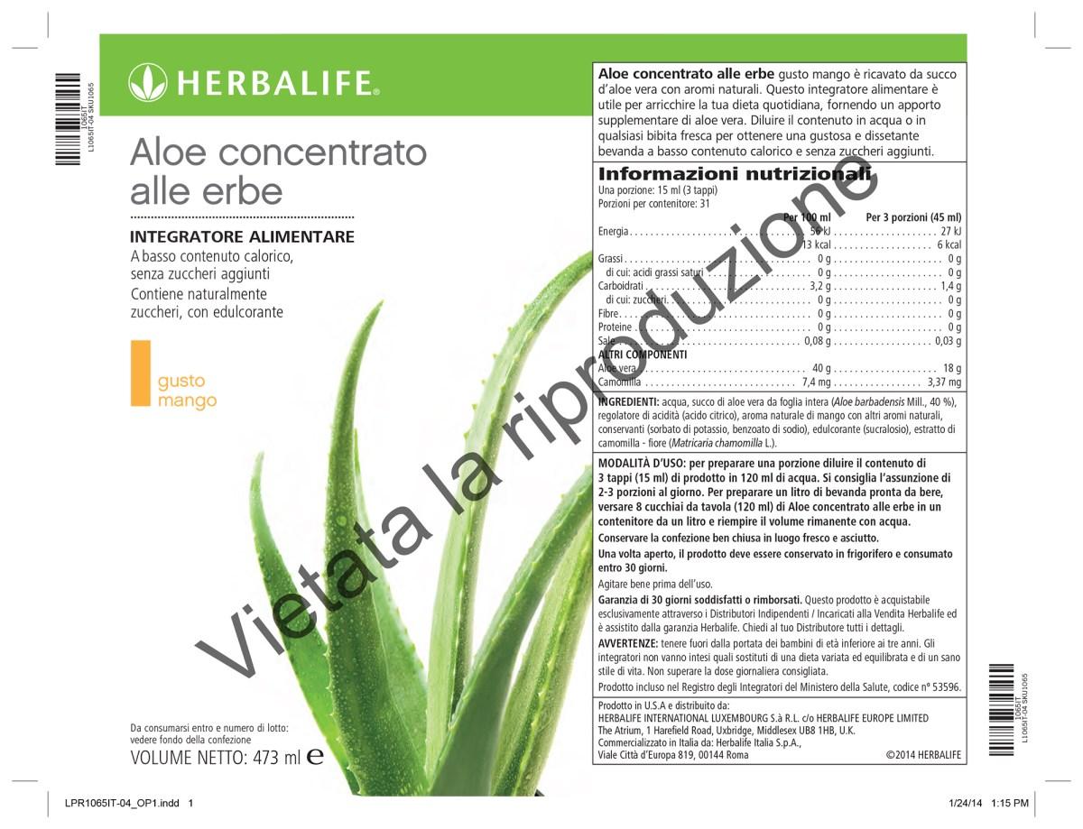 herbalife aloe concentrato alle erbe